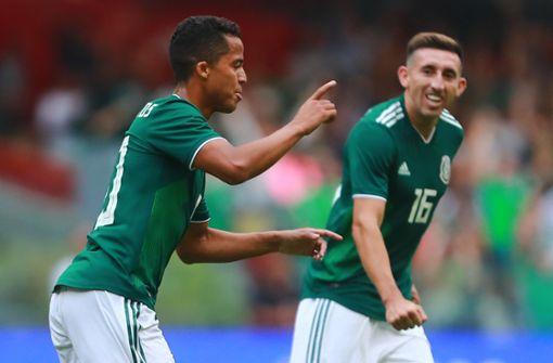 """Die Spieler der mexikanischen Nationalmannschaft feierten Medienberichten zufolge vor der WM 2018 eine """"24-Stunden-Orgie"""". Foto: GETTY IMAGES NORTH AMERICA"""