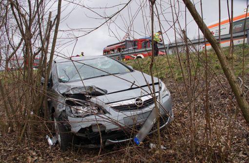 Kurz vor der Ausfahrt Waiblingen-Nord ereignete sich ein Unfall. Foto: Andreas Rosar Fotoagentur-Stuttg
