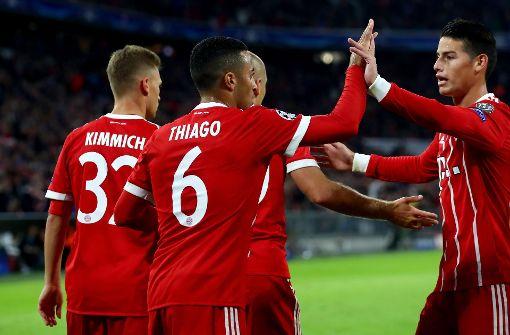 Thiago erzielte den zweiten Treffer für die Münchener. Foto: Bongarts