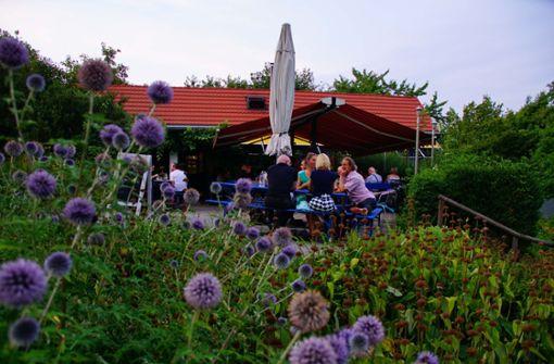 bTipp 2: /bIdylle zwischen Schrebergärten – der Biergarten bIns Blaue/b liegt in den Wartberganlagen unterhalb des Killesbergs ...  Foto: Andreas Rosar Fotoagentur-Stuttgart