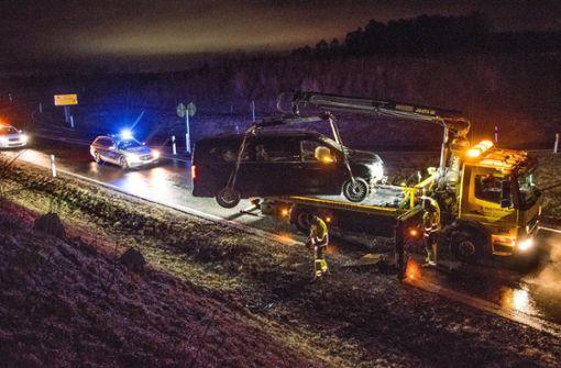 Das Auto musste abgeschleppt werden. Foto: 7aktuell.de/ Gruber
