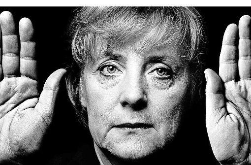 In der Galerie Abt Art: Angela Merkel – gesehen von Walter Schels Foto: Walter Schels