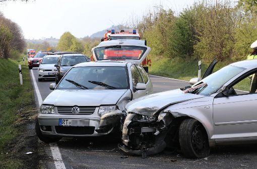 Fünf Schwerverletzte bei Unfall auf B312