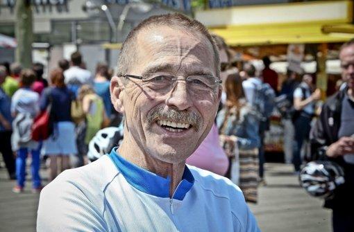 Werner Weiss (58), StN-Redakteur, freute sich über die gemütliche Fahrt bei schönem Wetter. Foto: Peter Petsch