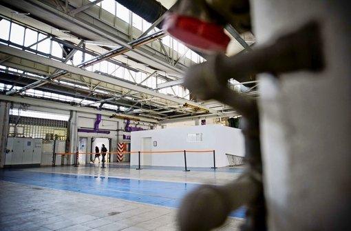 In diese weißen Ateliers sollen Künstler im Werk 8 einziehen. Foto: Max Kovalenko