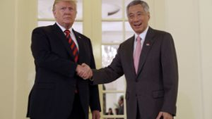 Trump trifft Ministerpräsident Lee Hsien Loong