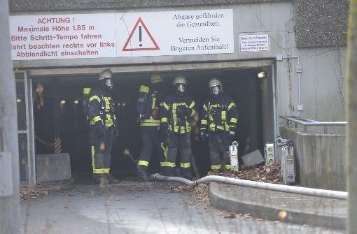 Die Feuerwehr brachte den Brand in einer Tiefgarage in Stuttgart-Asemwald rasch unter Kontrolle. Foto: 7aktuell.de/Oskar Eyb