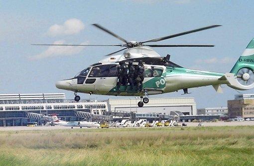 Fliegende Polizisten im Anflug