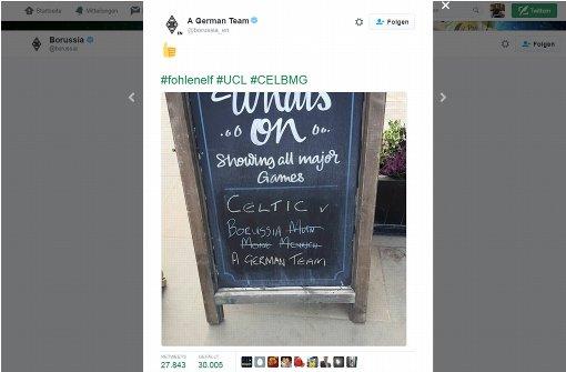 Borussia Mönchengladbach verwirrt die Schotten