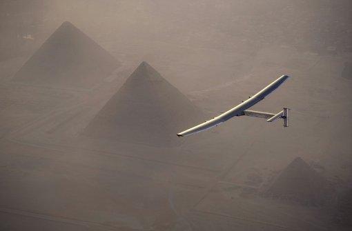 Sonnenflieger in Kairo gelandet