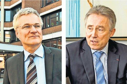 Zwei, die nicht sehr gut miteinander können: der stellvertretende Landrat und Ex-AVL-Chef Utz Remlinger (links) und sein Chef, der Landrat Rainer Haas. Foto: factum/Granville