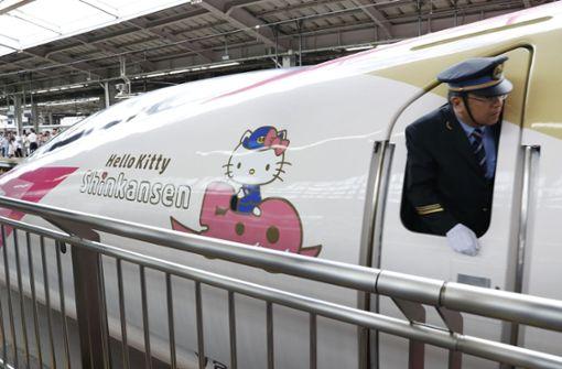 Bis Ende September verbindet der Zug den Westen und den Süden Japans. Foto: Kyodo News/AP