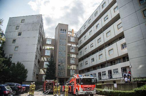 Müllpresse in Wohnhaus in Brand geraten