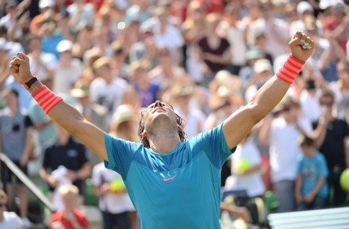 Rafael Nadal kann es auch auf Rasen
