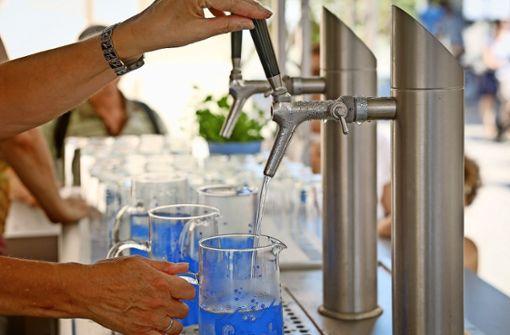 Kostenloses Wasser an der Stadtkirche