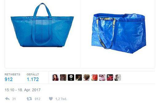 Blauer Luxus-Shopper: Balenciaga designt