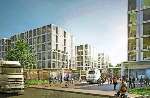 Daimler baut Lkw-Zentrale in Leinfelden