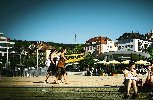 Das Herz des Südens: der Stuttgarter Marienplatz Foto: Achim Zweygarth