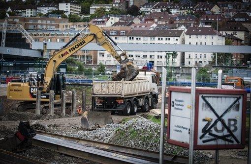 Im Oktober gingen die Bauarbeiten im Schlossgarten noch voran Foto: Lichtgut/Leif Piechowski