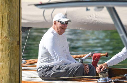 Norwegens König ganz leger am Bodensee