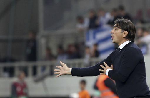 Kroatiens Nationaltrainer Zlatko Dalic hat Borna Sosa in seinen vorläufigen WM-Kader berufen. Foto: AP