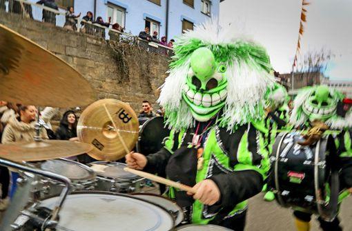 Organisiert wurde der Umzug von Grün-Weiß Böblingen. Foto: factum/Granville
