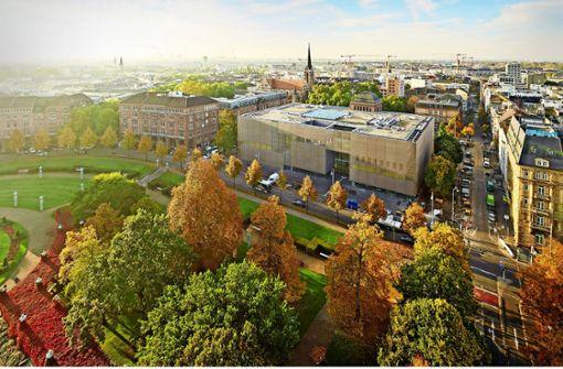 Die neue Kunsthalle Mannheim aus der Vogelperspektive Foto: Kunsthalle Mannheim/Rainer  Diehl