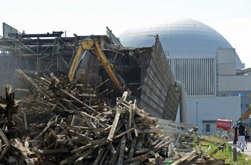 BlockI in Neckarwestheim wird abgebaut – was tun mit dem Schutt? Foto: dpa