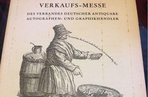 Der erste Katalog der Stuttgarter Antiquariatsmesse von 1962 Foto: