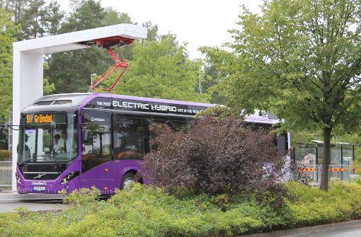 Neue Schnellbuslinie fährt nicht rein elektrisch