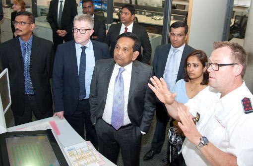 Minister aus Sri Lanka zu Besuch bei Stuttgarter Rettern