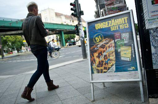 Rasches Verbot von Tabakaußenwerbung gefordert