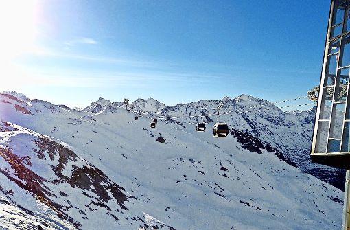Nie wieder Bus fahren: Die neue Flexenbahn verbindet den Trittkopf in Zürs mit Alpe Rauz und so mit dem Skigebiet von St. Anton. Foto: Susanne Hamann