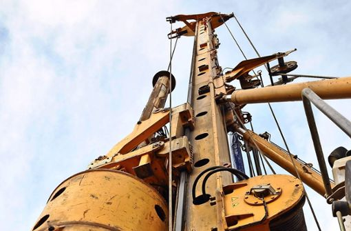 Großlochbohrer  geht bis zu  19 Meter in die Tiefe
