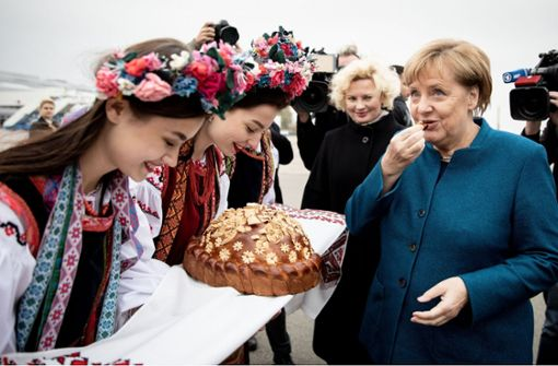 Die Ukraine wünscht noch viele Jahre mit Merkel