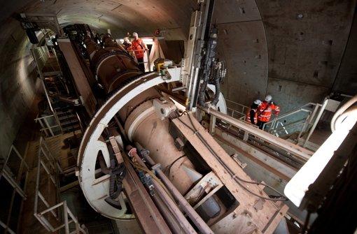 Wie beim Fildertunnel in Stuttgart soll auch auf der Strecke nach Ulm bei Wendlingen eine Tunnelbohrmaschine eingesetzt werden Foto: dpa