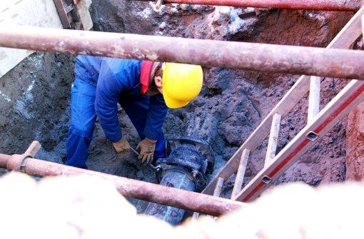 Bauarbeiter nach Verzögerung fertig
