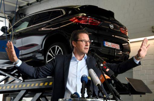 Verkehrsminister Scheuer kündigt neues Konzept an