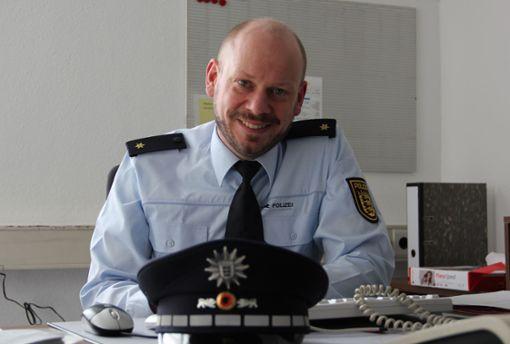 Polizeirat und Revierleiter Volker Kehl präsentiert jährlich die Zahlen der  Krimina Foto: Archiv Bernd Zeyer
