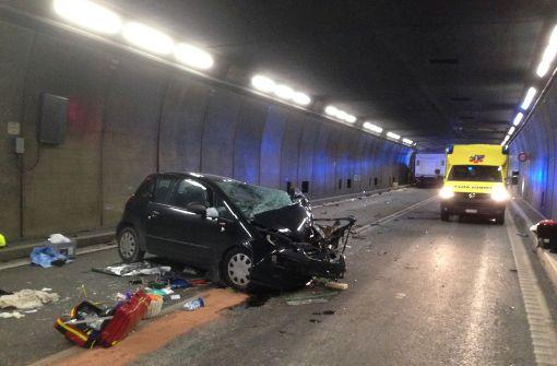 Gotthardtunnel nach tödlichem Unfall gesperrt