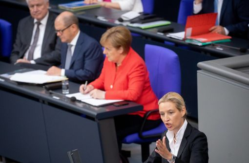 Alice Weidel fordert Bundeskanzlerin Merkel zum Rücktritt auf