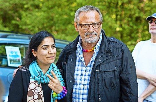 Friedensaktivistin Malalai Joya und Konstantin Wecker Foto: Lichtgut/Ines Rudel