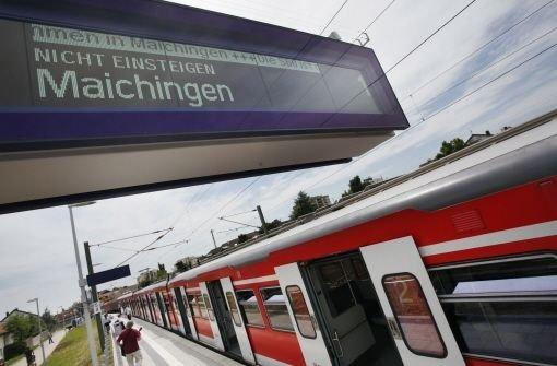 auch am Wochenende soll man künftig in die S60 nach Maichingen einsteigen Quelle: Unbekannt