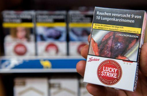 Verkäufer dürfen Schockbilder auf Zigarettenpackungen verdecken
