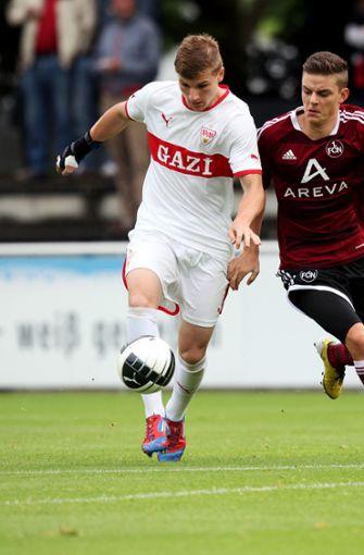 2012/2013 wird Werner mit 24 Toren Torschützenkönig in der U19-Bundesliga Süd. Foto: Baumann