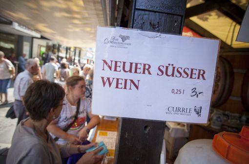 Neuer süßer Wein – bei den Gastronomen fehlt der nicht auf der Karte. Foto: Lichtgut/Leif Piechowski