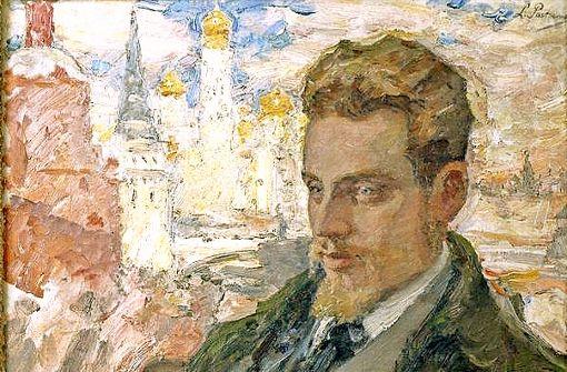 Das Ölgemälde Leonid Pasternaks zeigt  Rainer Maria Rilke   vor der Kulisse des Kreml. Es entstand 1928, zwei Jahre nach dem Tod des Dichters.  Foto: DLA