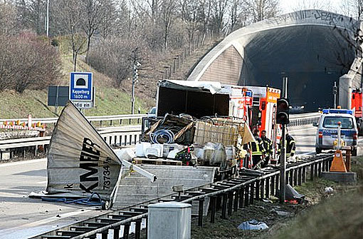 Unfall beim Kappelbergtunnel