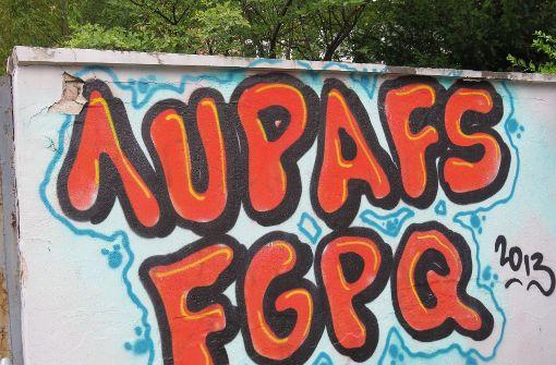 Graffiti auf einer Mauer in S-Süd. Foto: Sybille Neth