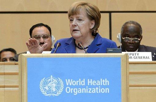 Merkel ruft WHO zur Reform auf